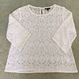 BR lace bell sleeve top